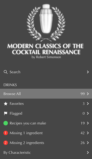 Modern Classics of the Cocktail Renaissance app