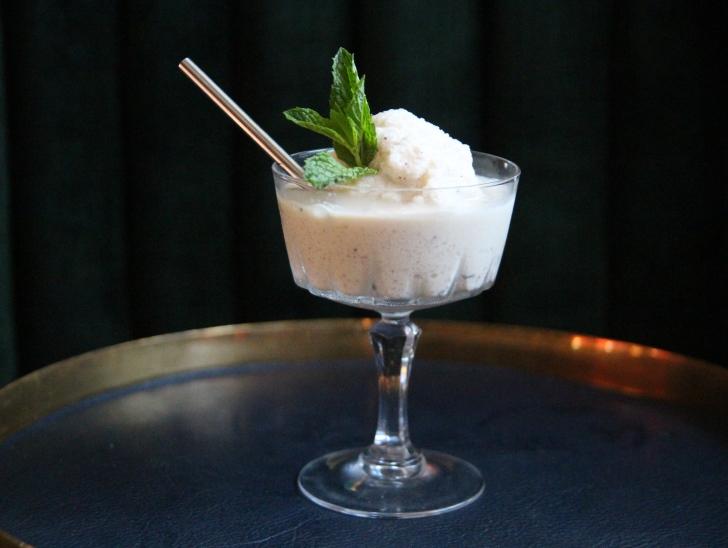 Grasshipster: Mint Chip ice cream, Fernet Branca, crème de cacao and menthe