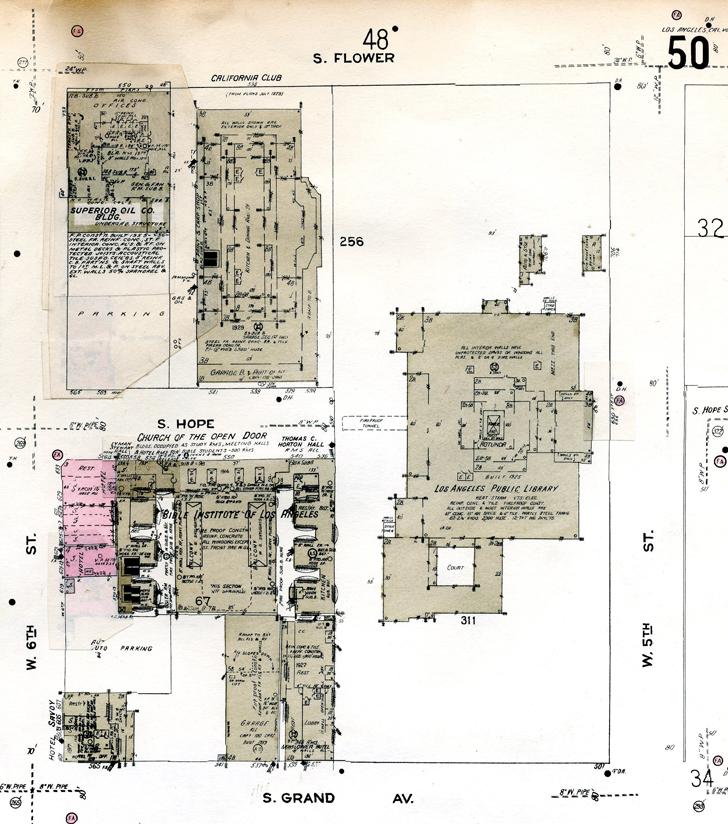 Sanborn Fire Insurance Atlas, Volume 1 sheet 50, 1956