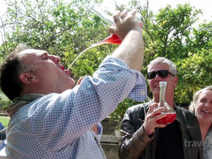 Of course this is how Chefs Jose Andres and Anthony Bourdain drink wine.