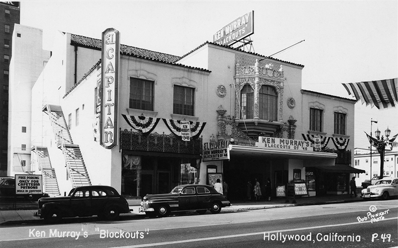 The Avalon club on Vine Street was once a playhouse called the El Capitan