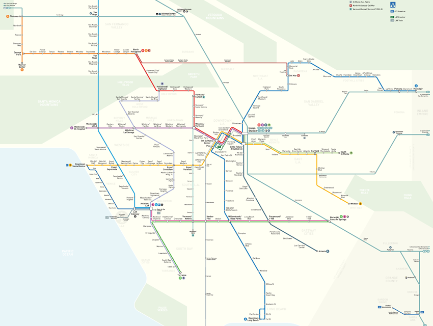 Los Angeles Subway Map 2016.Here S What The Future Of Metro Could Look Like With A Half Cent