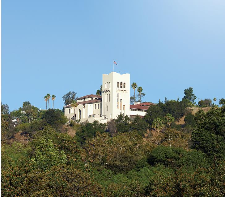 The Southwest Museum sits castlelike on Mount Washington