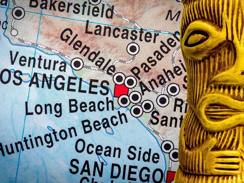 California Map Shutterstockcom.Your Tiki Road Map To Southern California Los Angeles Magazine