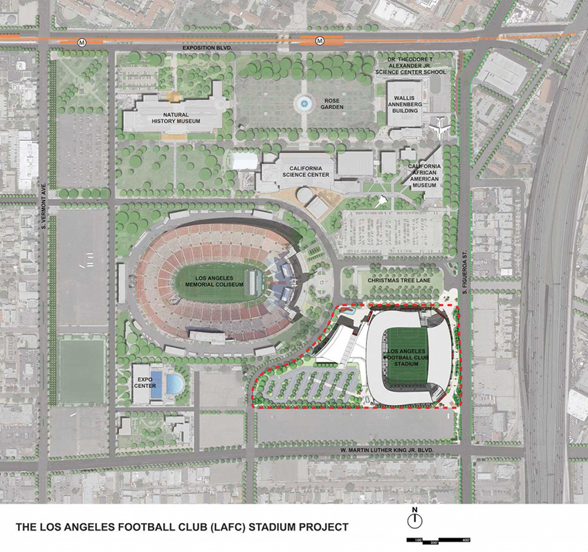 A map of the future stadium