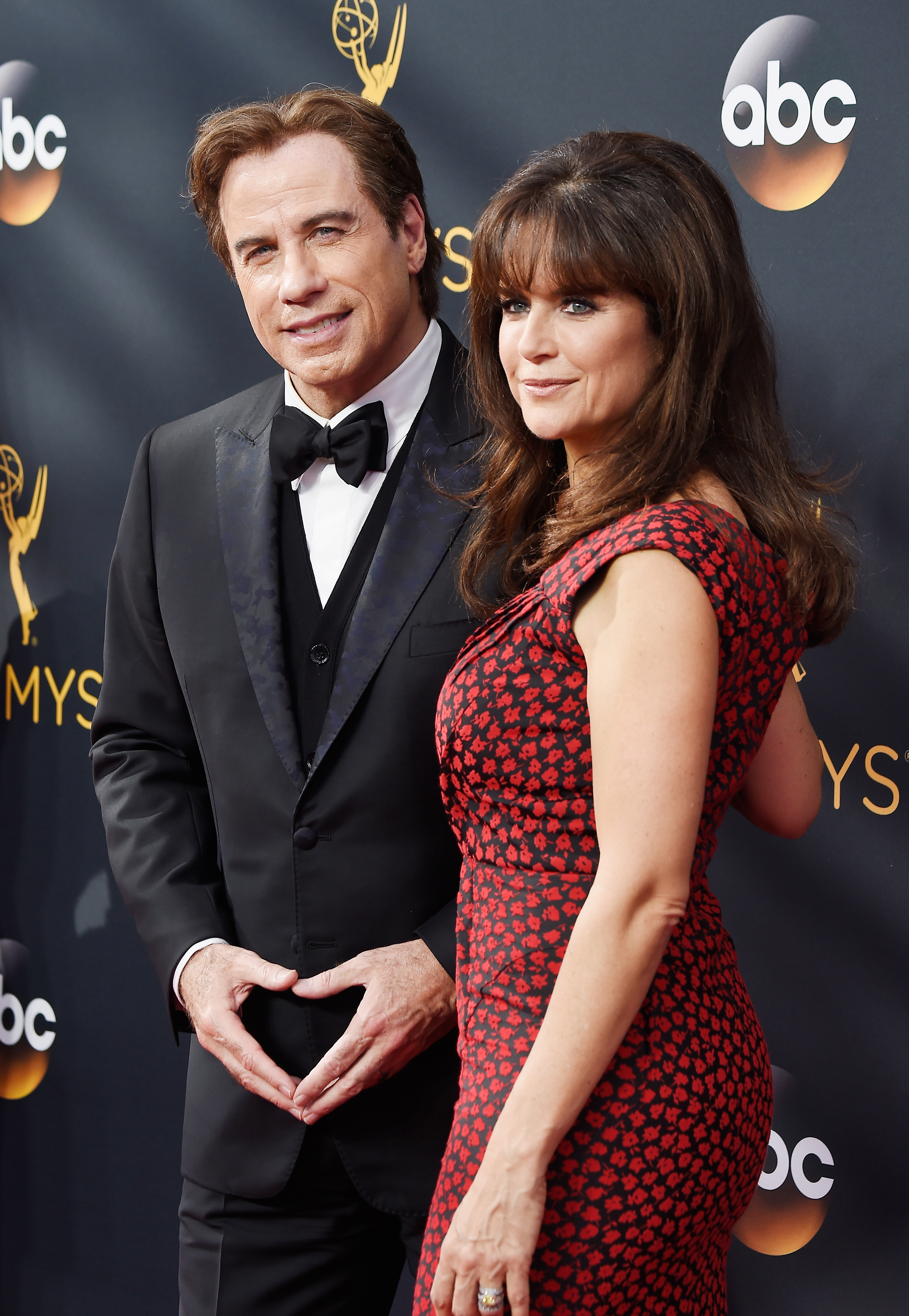 LOS ANGELES, CA - SEPTEMBER 18: Actors John Travolta and Kelly Preston attend the 68th Annual Primetime Emmy Awards at Microsoft Theater on September 18, 2016 in Los Angeles, California. (Photo by Frazer Harrison/Getty Images)