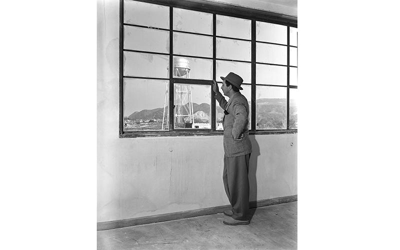 Walt Disney in his new office at the Burbank studio