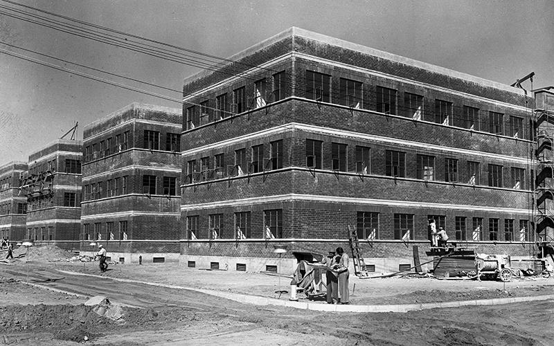 The Walt Disney studio in Burbank under construction, 1939