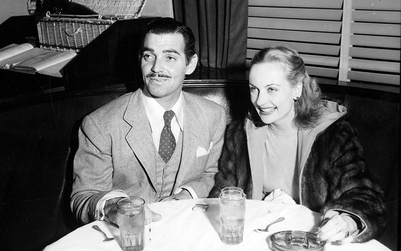 Clark Gable and Carole Lombard at the Hollywood Brown Derby 1938