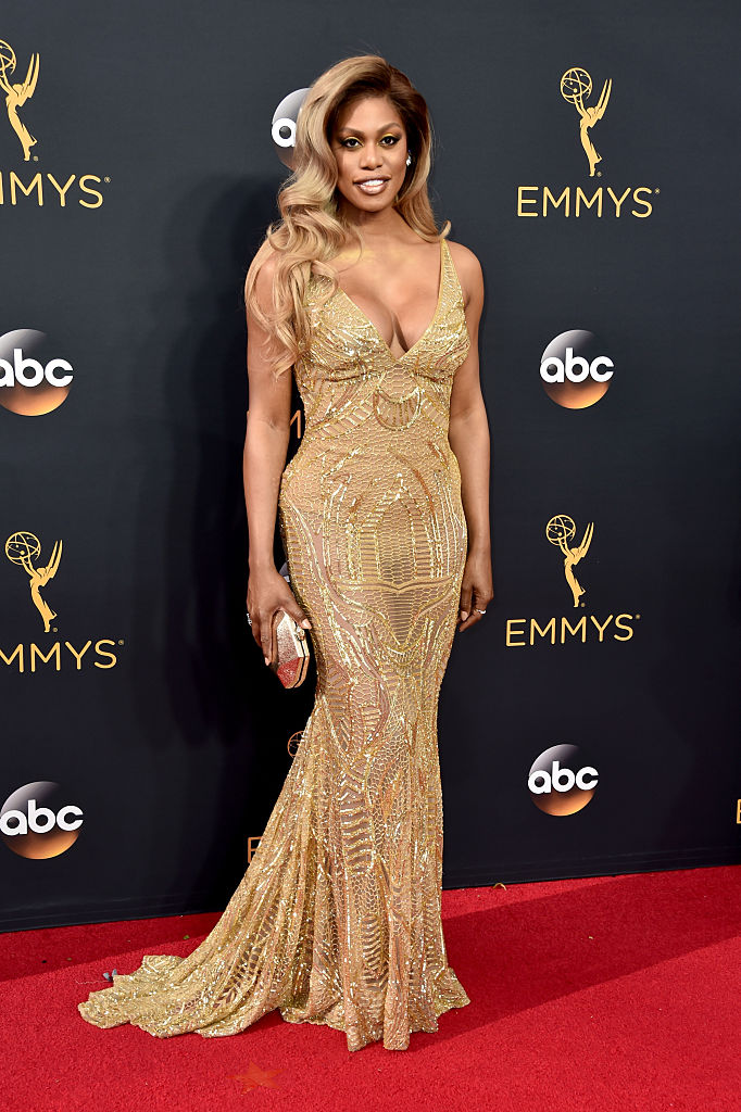 LOS ANGELES, CA - SEPTEMBER 18: Actress Laverne Cox attends the 68th Annual Primetime Emmy Awards at Microsoft Theater on September 18, 2016 in Los Angeles, California. (Photo by Alberto E. Rodriguez/Getty Images)