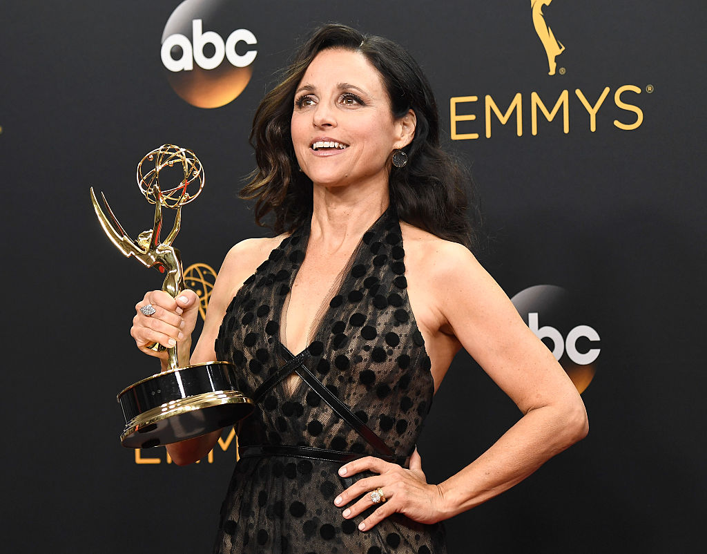 poses in the press room during the 68th Annual Primetime Emmy Awards at Microsoft Theater on September 18, 2016 in Los Angeles, California.
