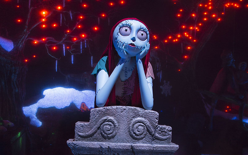 nightmare before christmas robot joins disneylands haunted mansion photograph - Sally From The Nightmare Before Christmas