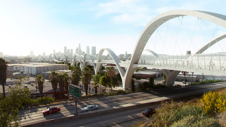 A rendering of the Ribbon of Arches bridge