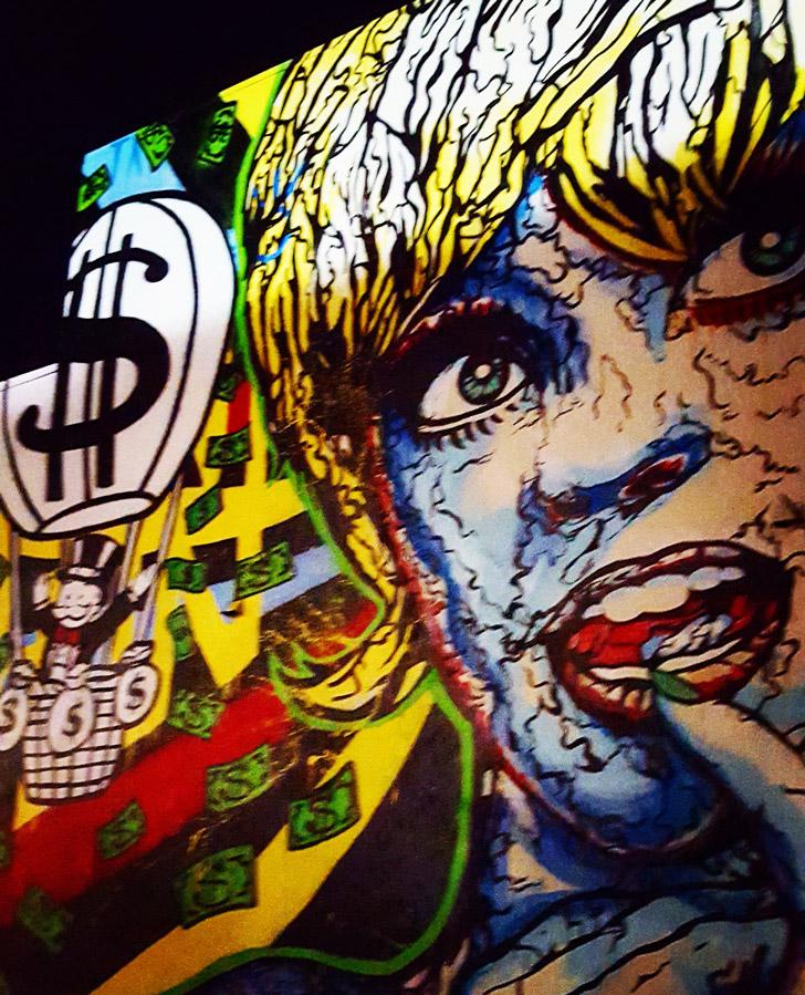 Alec Monopoly's Goldie Hawn mural