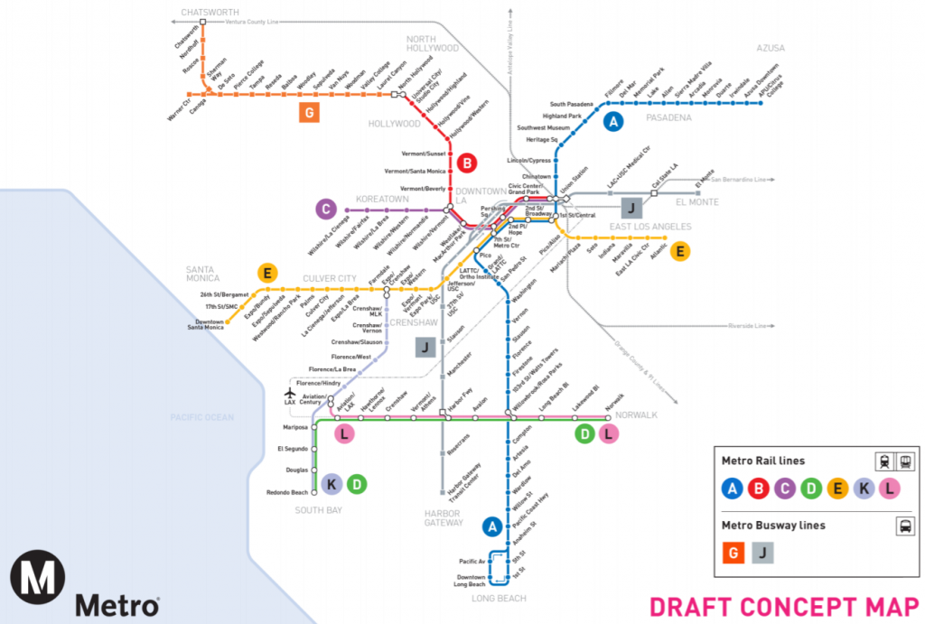 A draft concept map of the forthcoming rail system