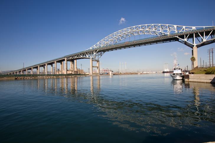 The current Gerald Desmond Bridge