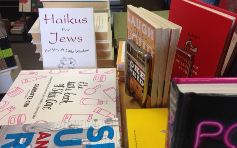 Only some of the books for sale at Postalworks