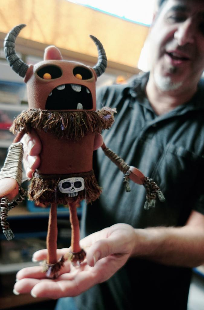Mark Caballero shows off the Witch Doctor