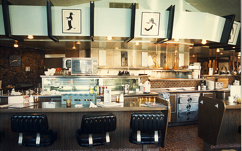 Penguin Coffee Shop in Santa Monica, circa 1988