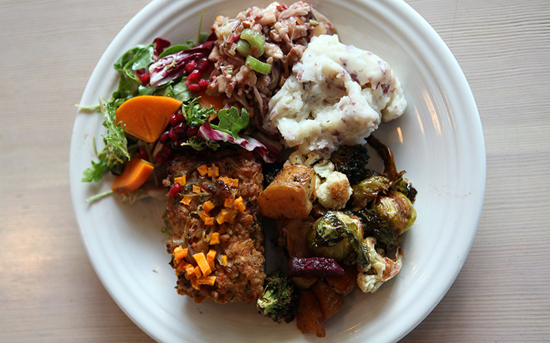 The Thanksgiving Plate at Cafe Gratitude