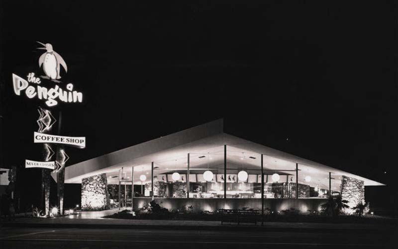 Penguin Coffee Shop in Santa Monica, circa 1960