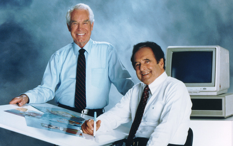 William Hanna and Joseph Barbera, 1980s