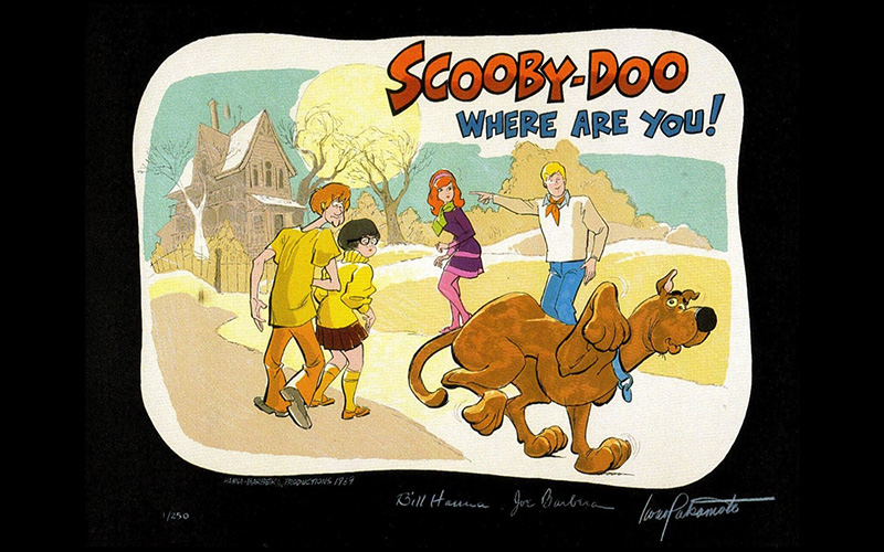 Scooby-Doo Where Are You! presentation board by Iwao Takamoto