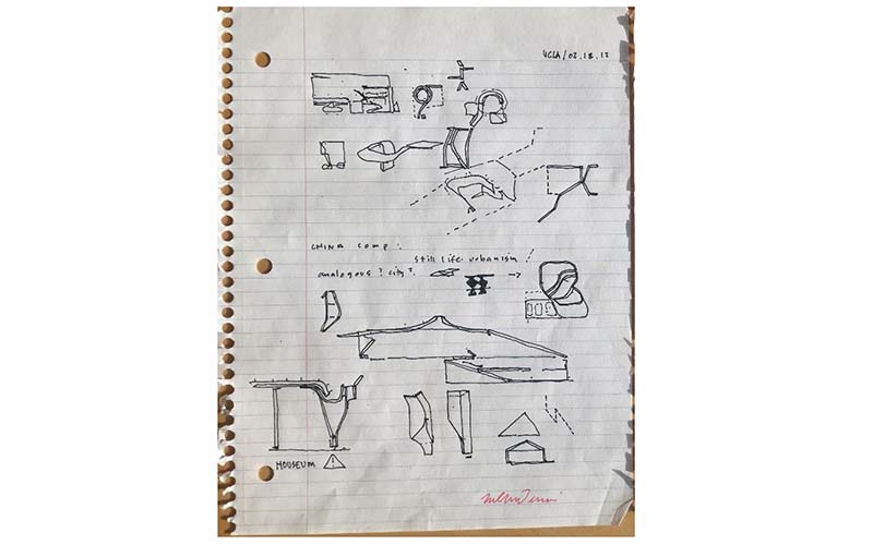 Notebook Drawing #1 by Neil M. Denari