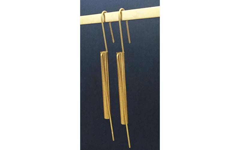 Brass Earrings by Heather Peterson