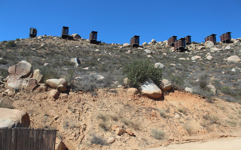 Your mountainside pod awaits at Encuentro Guadalupe