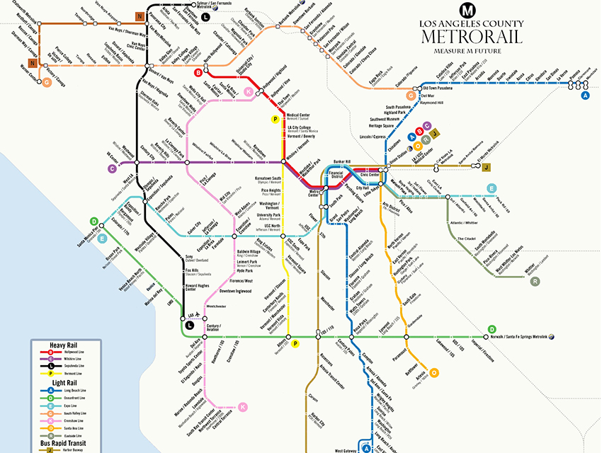 La Subway Map Year.L A Is Finally Getting A Transit System To Rival New York S Los