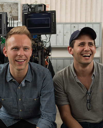 Lyricists Benj Pasek (right) and Justin Paul