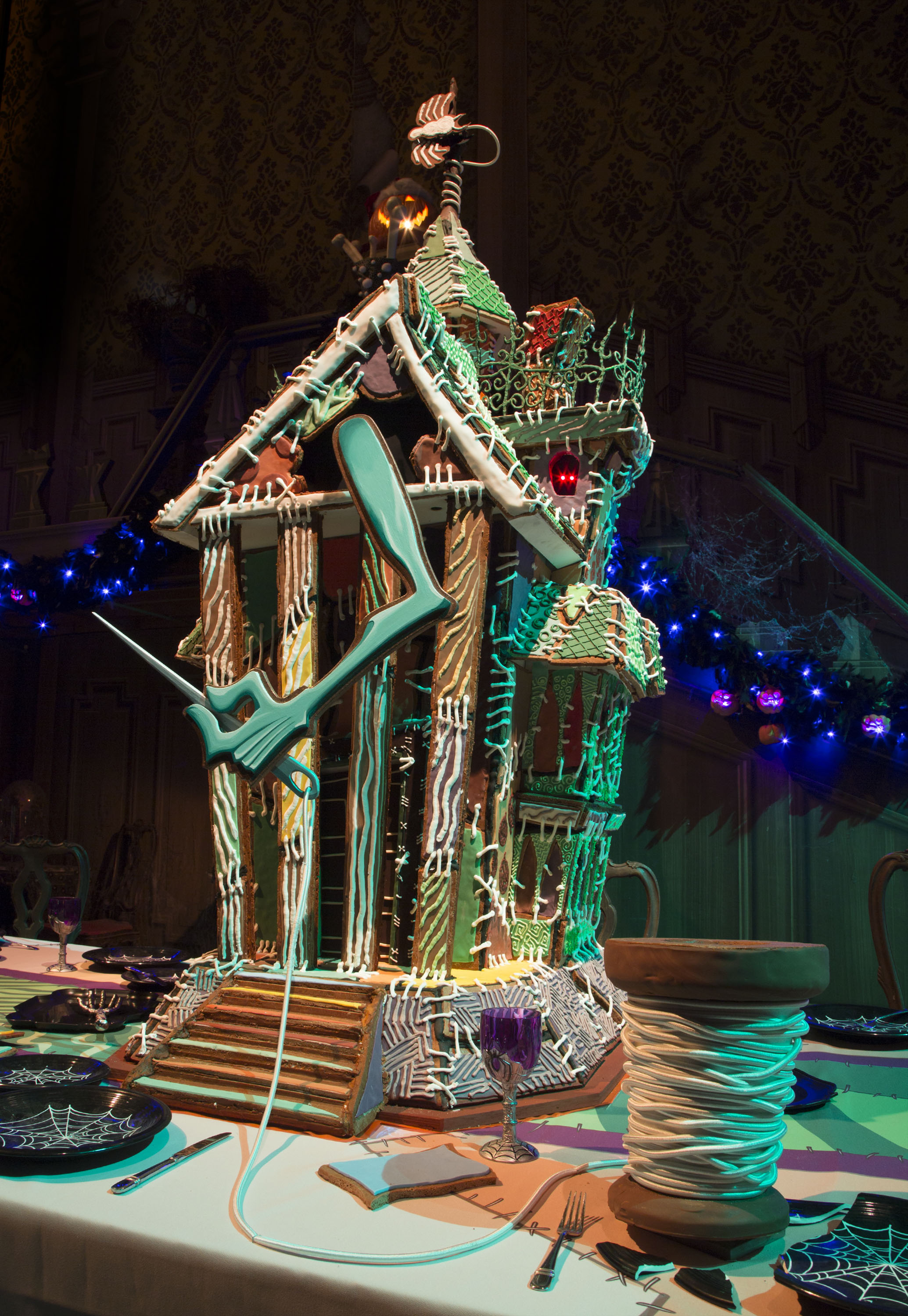haunted mansion holiday gingerbread house now through jan 8 2017 haunted mansion - Nightmare Before Christmas Gingerbread House