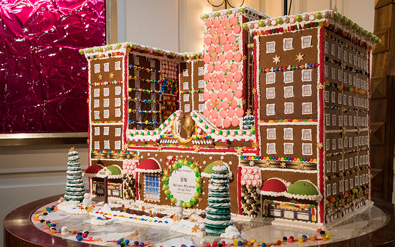 Gingerbread house at the Beverly Wilshire hotel