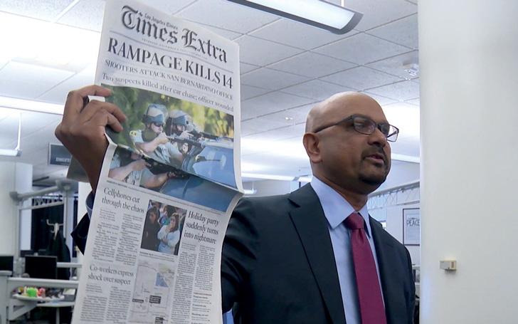 Editor-in-chief Davan Maharaj, after coverage of the San Bernardino terrorist attack won a Pulitzer