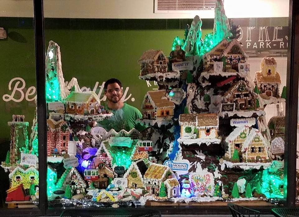 Gingerbread village at Kress Market, Long Beach