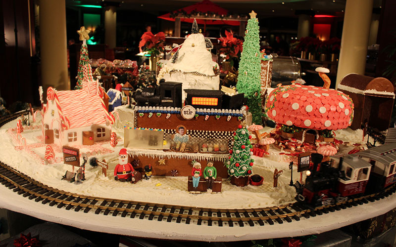 Gingerbread houses at Four Seasons Hotel Westlake Village