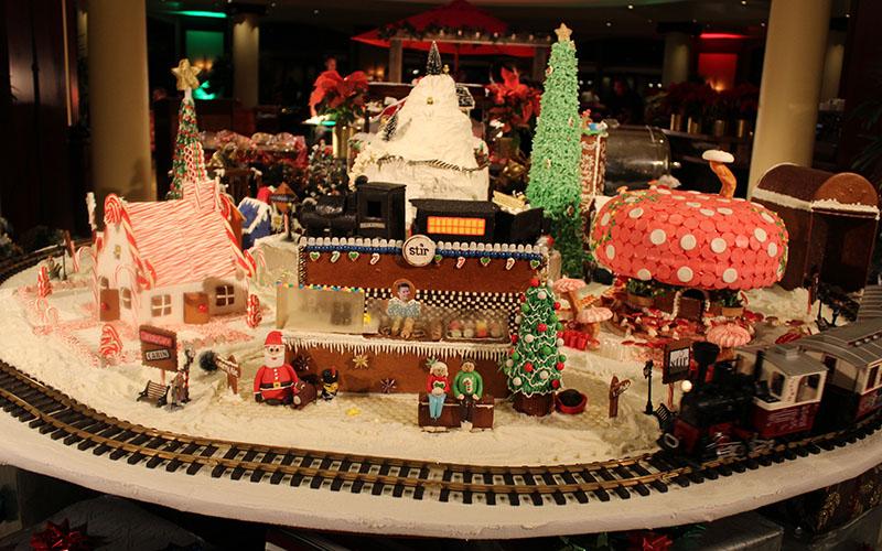 Gingerbread houses at Four Seasons Hotel Westlake Village