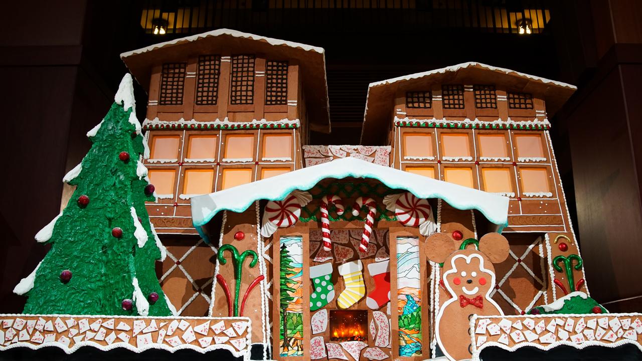 """Grand"" Gingerbread House at Disney's Grand Californian Hotel & Spa at the Disneyland Resort"