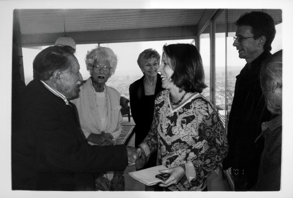Julius Shulman with Mary Melton
