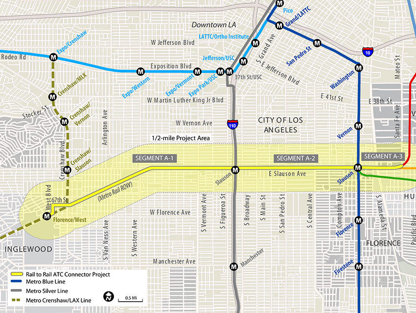 Los Angeles Subway Map New.Should South L A S New Bike Path Be A Rail Line Los Angeles Magazine