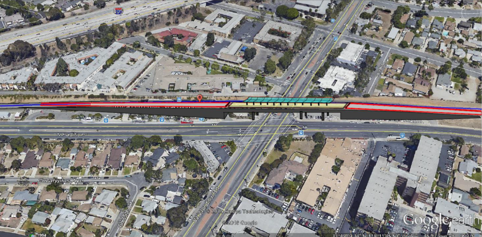 A rendering of the elevated Wardlow Station in Long Beach