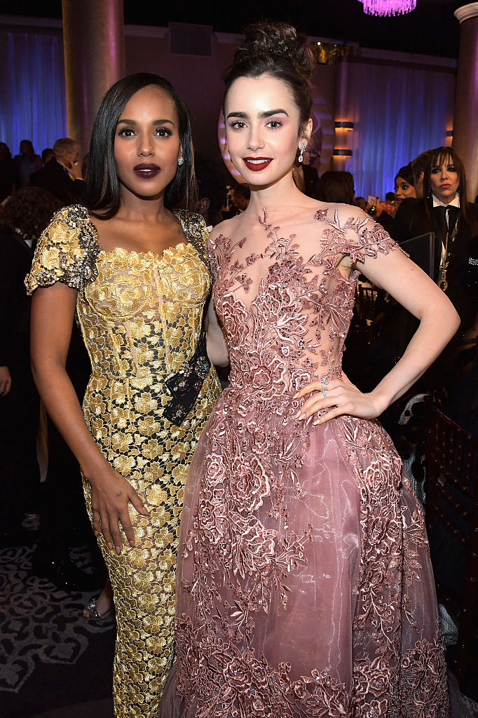 Kerry Washington and Lily Collins