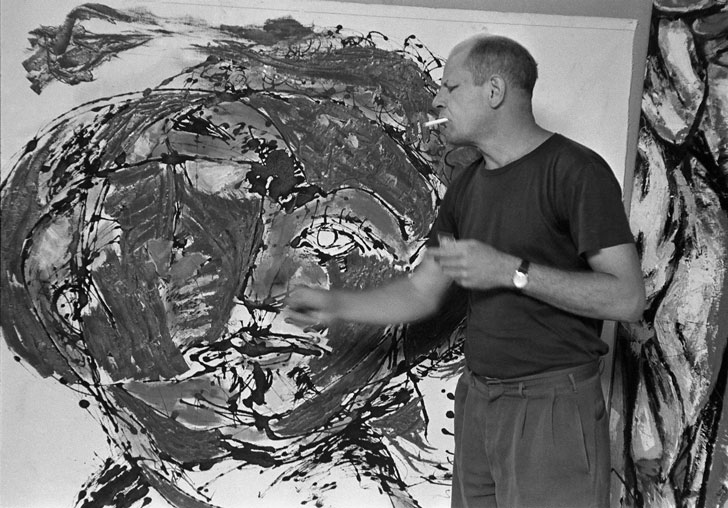 Jackson Pollock Painting, East Hampton, NY, 1953