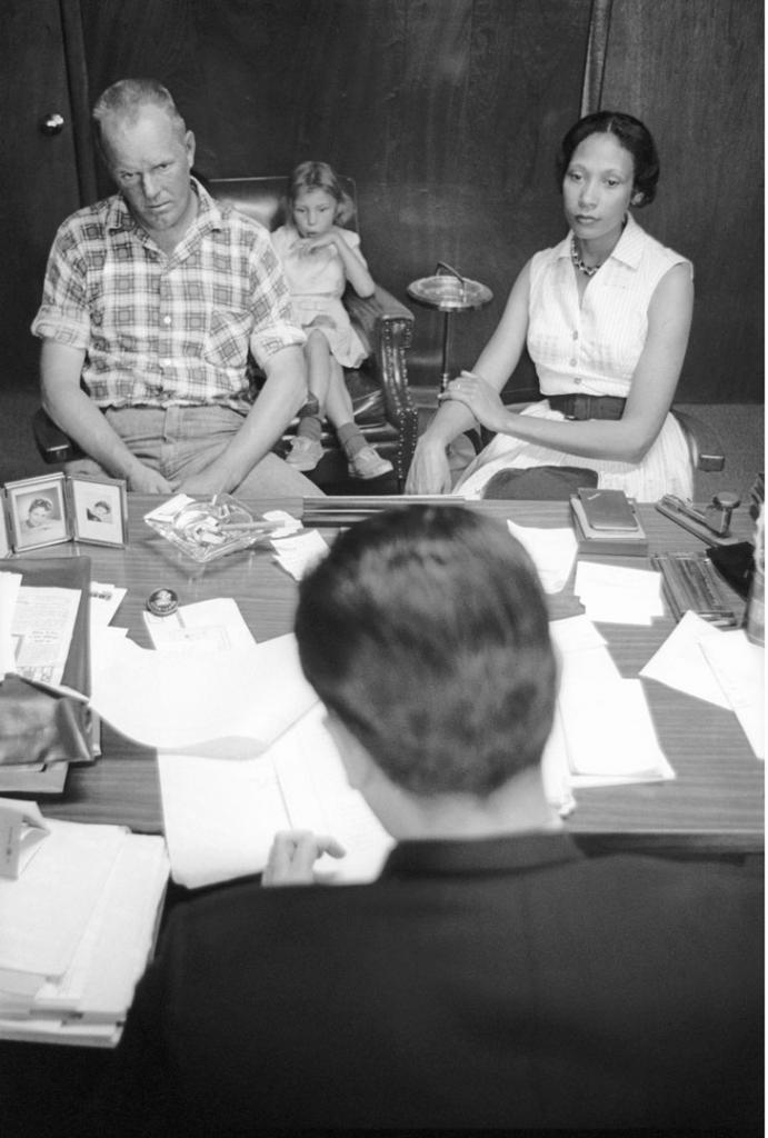 Richard and Mildred Loving with their attorney, Bernard Cohen