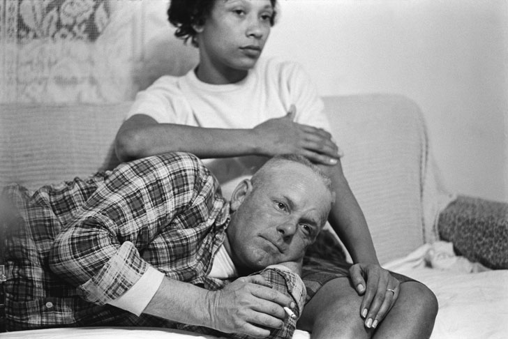 Richard and Mildred Loving on their couch, King and Queen County, Virginia, 1965
