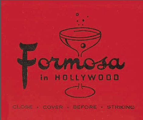 Formosa Cafe matchbook