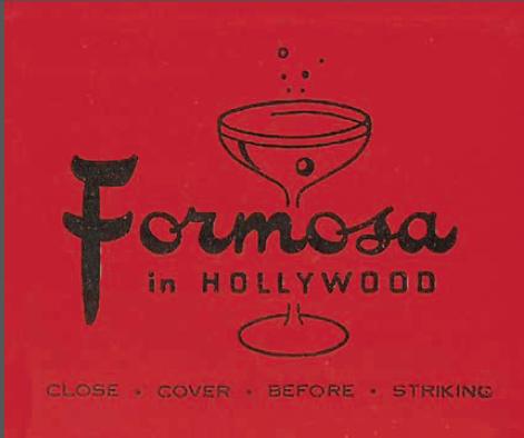 Formosa Cafe matchbook