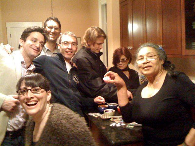 Berkeley, 2006, while Fisher was doing previews for the Wishful Drinking show. Photo courtesy Mara Shapshay.