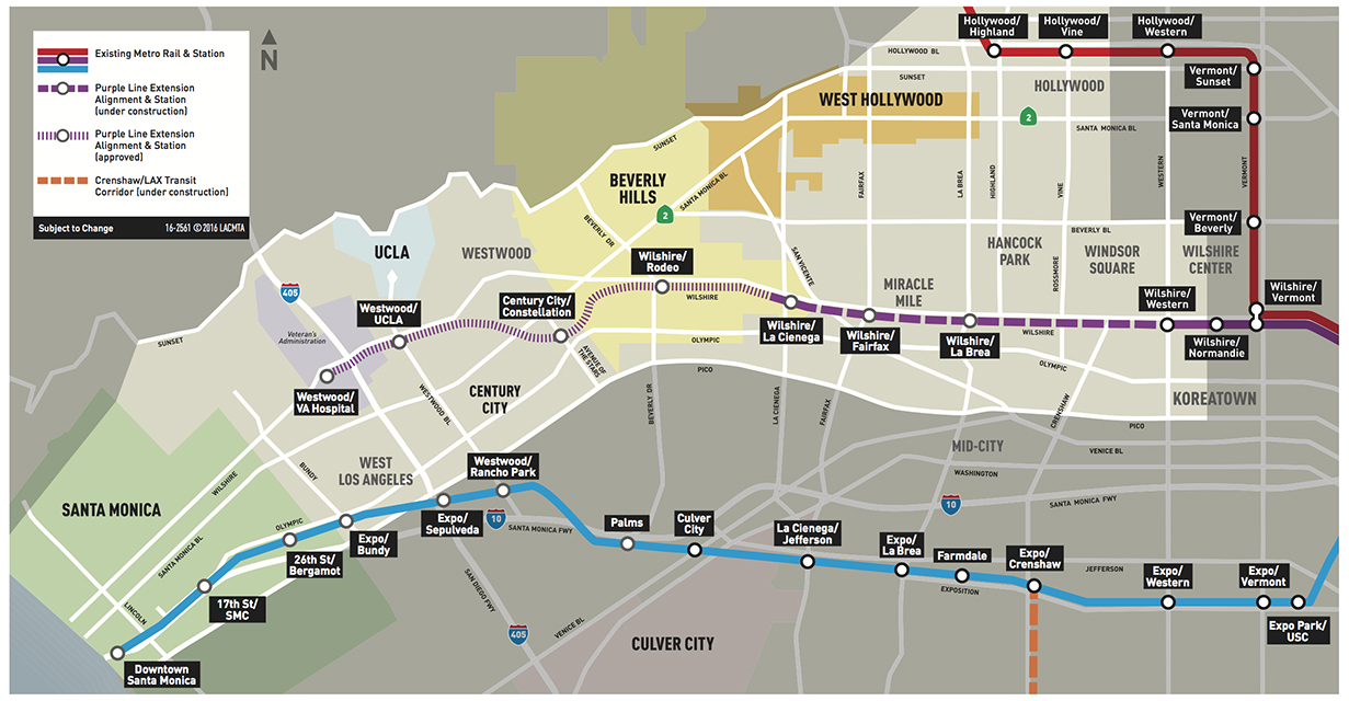 Route of the Purple Line extension